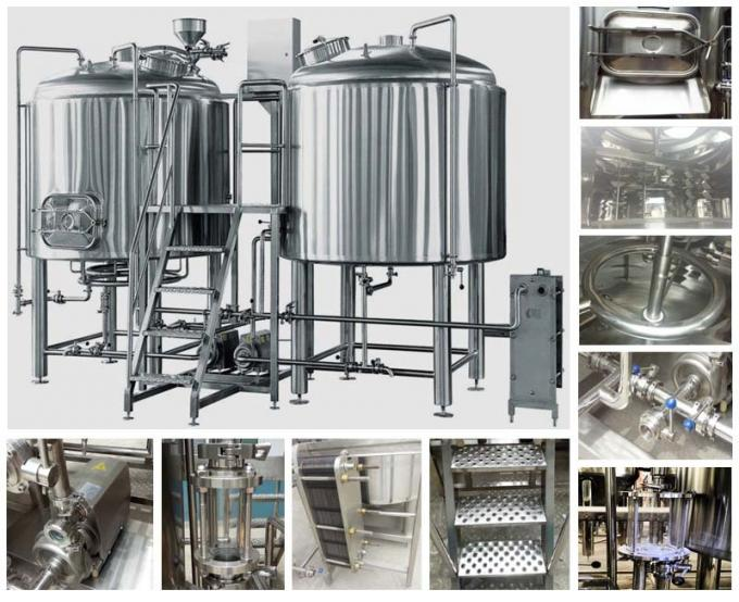 304 Stainless Steel 3 Kettle Brew System