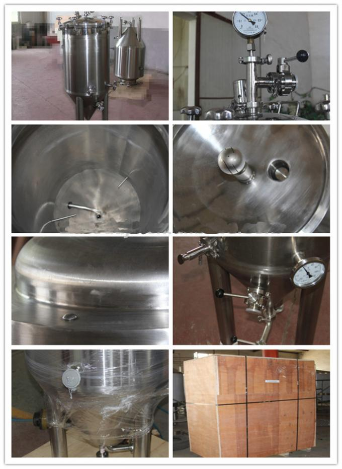 1500L Stainless Steel Bright Beer Tank Tri Clamp For Industrial Beer Brewing