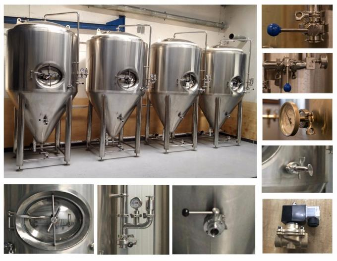 7BBL Conical Beer Fermenter Stainless Steel 304 / 316 Material Eco Friendly