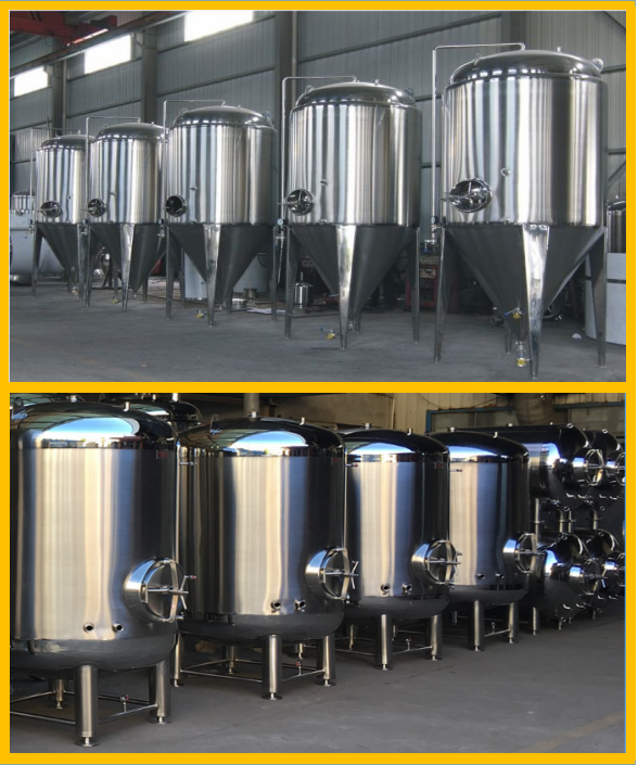 100% TIG Welding Conical Beer Fermenter With 50MM Polyurethane Insulation