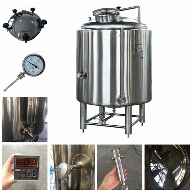 Fabrication SS304 Commercial Brew Kettle / 6000L Cold Tank In Beer Cooling Process