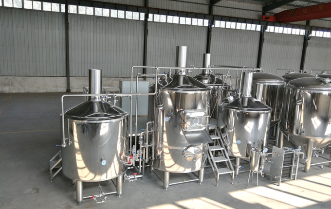 Sanitary Stainless Steel Beer Tanks / 15BBL Nano Brewery Equipment CE Certification
