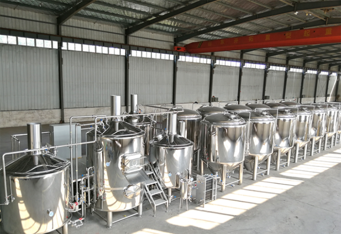 5BBL Mirror Polished Pub Brewing Systems 100% TIG Welding / Tri Clamp Connection