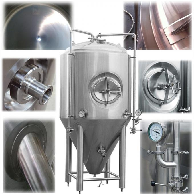 Stainless Steel SS304 Conical Beer Fermenter / Commercial Beer Equipment For Brewery