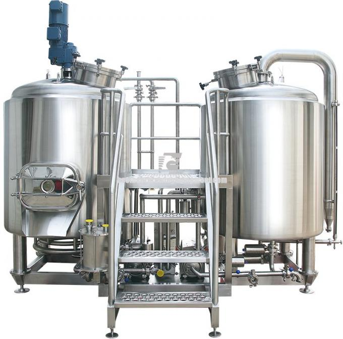 High Power 8 BBL Brewing System Stainless Steel With PU Foam Insulation