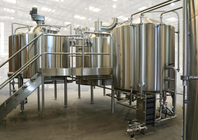 3500L Electric Heating 4 Vessel Brewhouse With Dimple Plate Jacket For Fermentation System