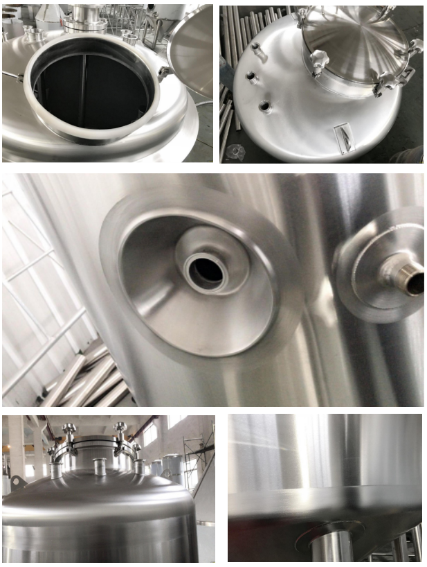 1500L Brewing Insulated Hot Liquid Tank Food Grade With Mirror Polished / 50MM PU Insulation