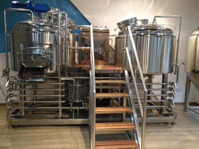 German Brewing Machine 5BBL 2 Vessel Brewhouse 800L Mash Tun System Mirror SUS