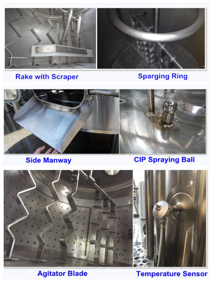 Manual Or Semi - Automatic 2 Vessel Brewhouse Wort Fermentation Function