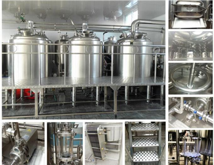 10BBL - 30BBL 25% Head Space at Minimum 3 Vessel Brewhouse for Craft Beer Brewing
