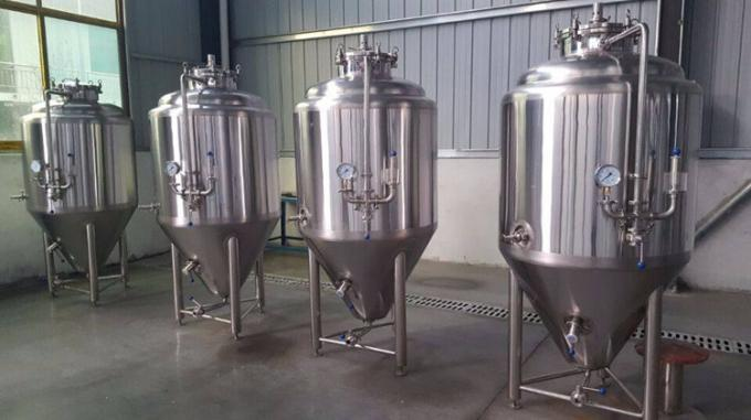 50L / 100L Dimple Plate Stainless Conical Fermenter Brewing Kits Customized