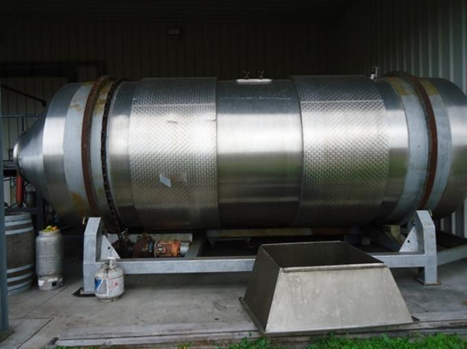 Food - Grade Stainless Steel Beer Brewing Tanks Horizontal Side / Top Manway