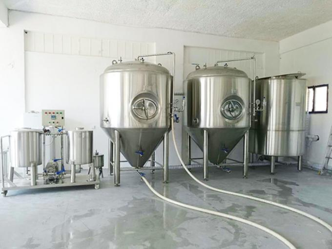 200L Pub Hotel 2 Vessel System Craft Beer Brewing Equipment Long - Life