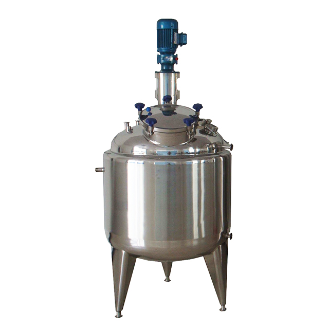 1500L Stainless Steel Insulated Liquid Mixing Tank Agitator Blending Vessel For Dairy Beverage Painting