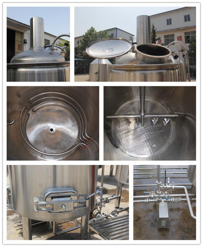 8 bbl  2Vessel Brewhouse Syatem For Brewpub Brewery Equipment With Mirro Polish Interior