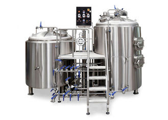 China 2HL Capacity 2 Kettle Brew System 2MM Exterior Shell For Pub / Restaurant supplier