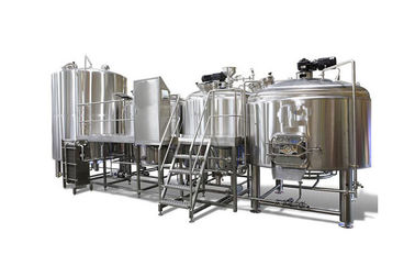 Micro Brewing Systems / 5000L Electric Brewery Dimple Plate Jacket For Fermentation