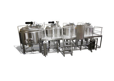 Food Grade 4 Vessel Brewhouse 5000L Direct Fire Brew Kettle SS304 / 316 Material