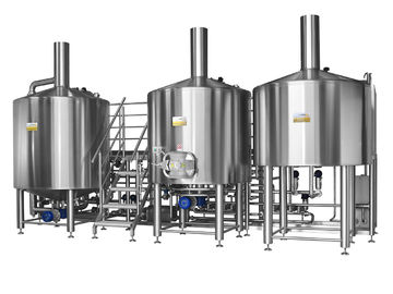 China Electric Brewery 2500L Three Vessel Brewing System For Automatic Beer Fermentation supplier
