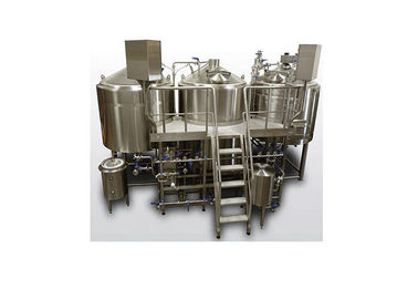 China 3 Vessel Small Commercial Brewing Equipment 1 Year Warranty ISO / CE Certification supplier