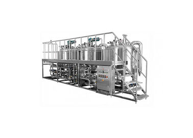 China Mirror Polish Surface 3 Vessel Brewhouse Manual Control System With 1 Year Warranty supplier