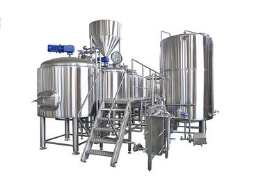 Professional 3 Vessel Brewhouse 2000L Micro Beer Brewery Equipment With Steam Heating