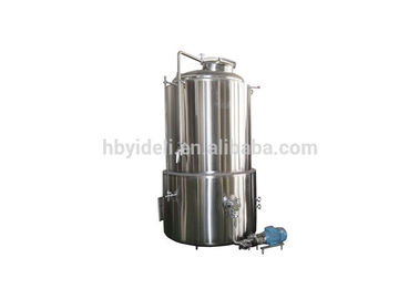 5BBL Customize Stainless Steel Hot Liquor Tank With Liquor Gauge Thermometer Ball valve Movable Wheels