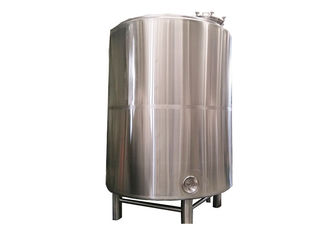 3000L Hot Liquor Tank Fabrication SS304 Stainless Steel Tank / 50MM PU Insulation
