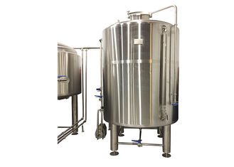 China Fabrication SS304 Commercial Brew Kettle / 6000L Cold Tank In Beer Cooling Process supplier