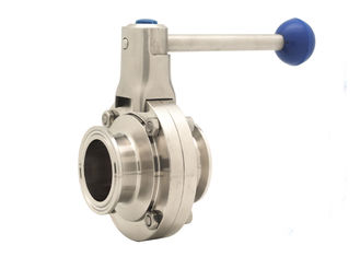 China Pneumatic Butterfly Valve Sanitary / Manual Tri Clamp SS304 Clamp Connection supplier