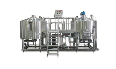 Two Vessel Brewing 5BBL Automated Beer Brewing System SS304 For Beer Production