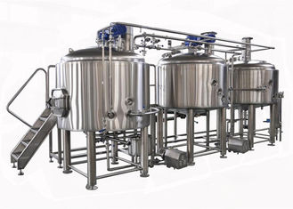 China Semi Auto / Manual Control 15BBL Large Beer Brewing Equipment Electric Heating supplier