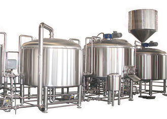 China PLC Control 2000L Large Beer Brewing Equipment Stainless Steel SUS304 Steam Heating supplier