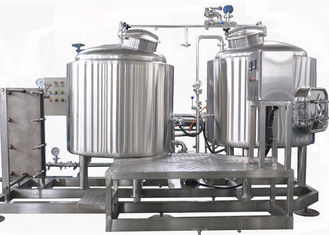 China Manual Control 5BBL Small Brewing Systems / Stainless Beer Fermenter Electric Heating supplier