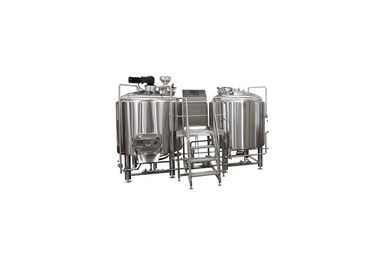 China Steam Heating 100L Pilot Brewing Equipment With Glycol Cooling System ISO / CE supplier