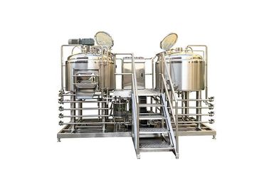 China 2HL Food Grade Pilot Brewing Equipment  SS304 Fabrication With 50MM PU Insulation supplier