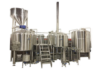 China 20HL 3 Vessel Brewhouse Heated By Steam Fabricated By SS304 For Mashing Process supplier
