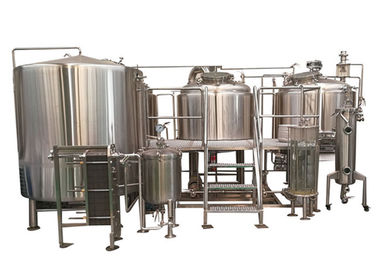 China 2000L 3 Vessel Brewhouse Fired Direct Heating Manual Beer Brewery Equipment supplier