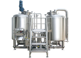 China High Power 8 BBL Brewing System Stainless Steel With PU Foam Insulation supplier
