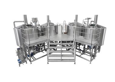China 3500L Electric Heating 4 Vessel Brewhouse With Dimple Plate Jacket For Fermentation System supplier