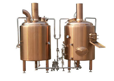 China 800L Electric Heated Pub Brewing System Red Cooper Materials With Semi - Antomatic Control supplier
