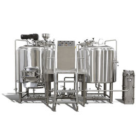China 500L 1000L 2000L Craft Beer Brewing System Two Vessel Brewing Unit Tanks supplier
