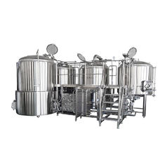 China 500L Small Brewery Equipment SS316 Glycol Cooling Jacket With Semi Automatic supplier