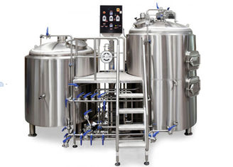 China Mirror Polish 100% TIG Welding 2 Vessel Brewing For Beer Brewing , High Speed supplier