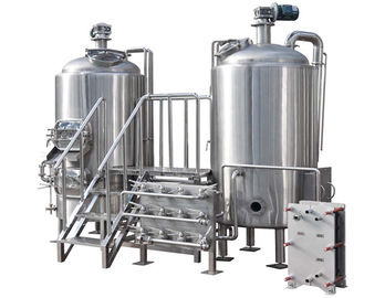 China 200 - 500 L Customized Two Vessel Brewing System For Beer Brewing Company supplier