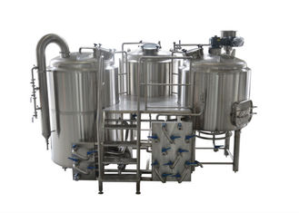 China 10BBL - 30BBL 3 Vessel Brewing System For Craft Beer Brewing , 25% Head Space At Minimum supplier