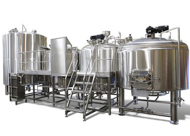 China Industrial Brewing 3 Vessel Brewhouse 3mm For Interior Shell / 2mm For Exterior Shell supplier