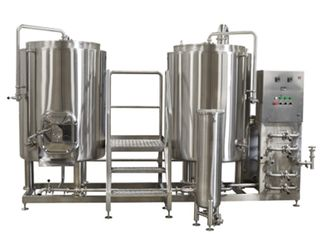 China 200L Pub Hotel 2 Vessel System Craft Beer Brewing Equipment Long - Life supplier