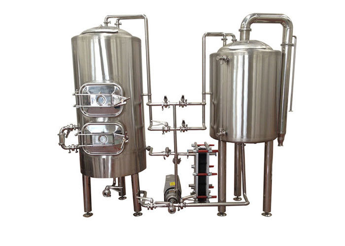 Manual Control Pilot Beer Brewing System Stainless Steel