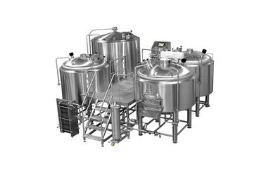 China ISO / CE 25HL 4 Vessel Brewhouse SS304 Shell Material With PLC Controlling System distributor